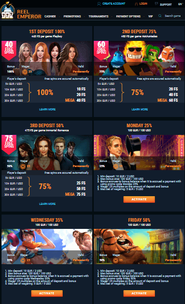 Reelemperor Casino Rebates